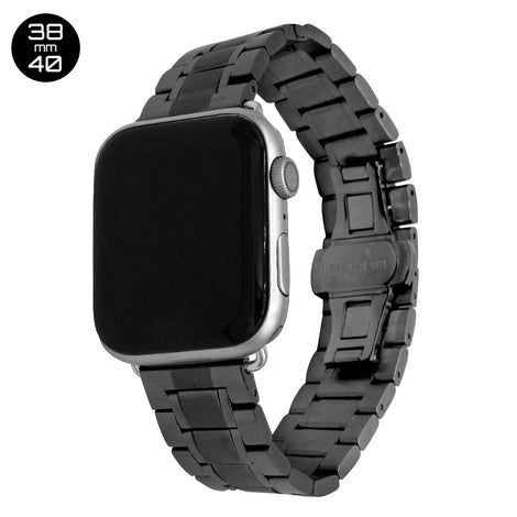 Black 5 Bead Stainless Steel iWatch Band 38/40mm