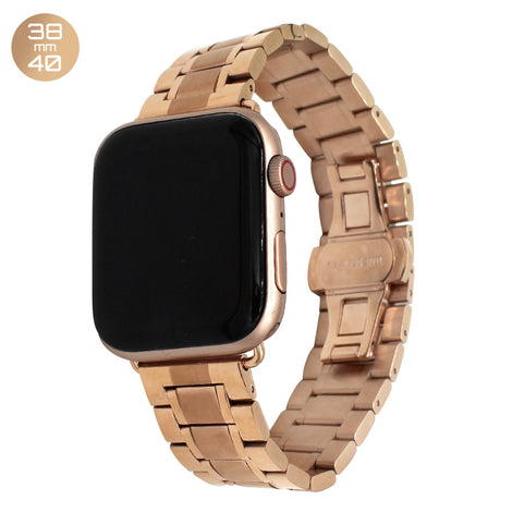 Rose Gold 5 Bead Stainless Steel iWatch Band 38/40mm