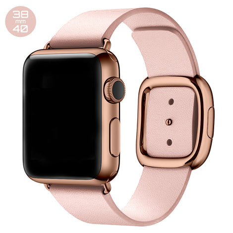 Pink Modern Buckle Leather iWatch Band 38/40mm