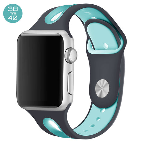 Grey/Mint Dual Color Silicone iWatch Band 38/40mm