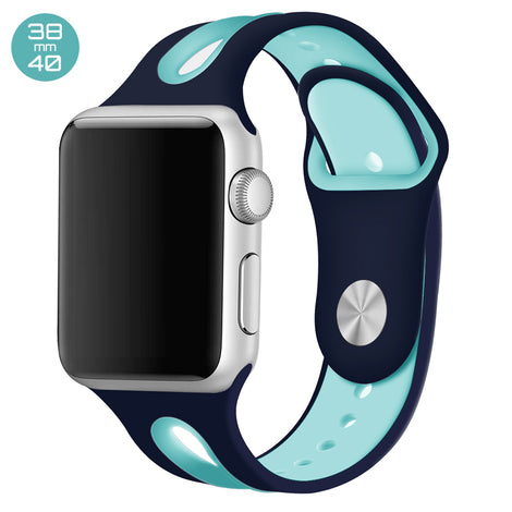 Blue/Mint Dual Color Silicone iWatch Band 38/40mm