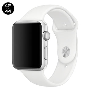 White iWatch Regular Silicone Band 42/44mm