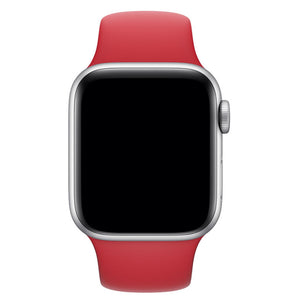 Red iWatch Regular Silicone Band 42/44mm