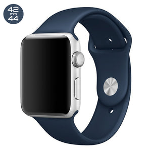 Midnight Blue iWatch Regular Silicone Band 42/44mm