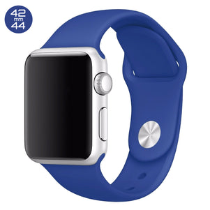 Ocean Blue iWatch Regular Silicone Band 42/44mm