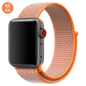 Spicy Orange iWatch Nylon Loop Band 42/44mm