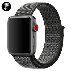 Black iWatch Nylon Loop Band 42/44mm