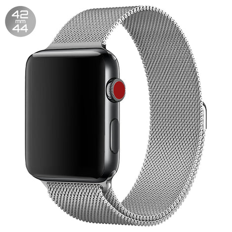Silver Milanese Stainless Steel Loop iWatch Band 42/44mm