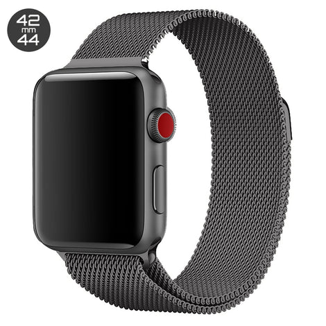 Grey Milanese Stainless Steel Loop iWatch Band 42/44mm