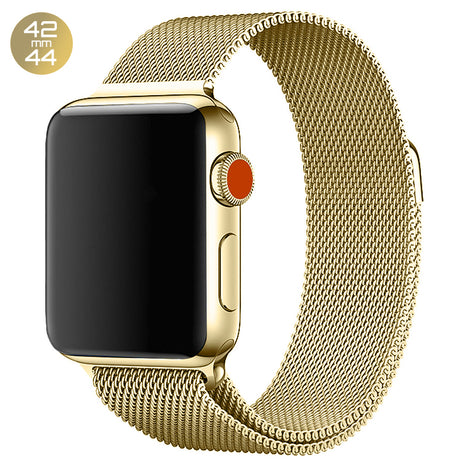 Gold Milanese Stainless Steel Loop iWatch Band 42/44mm