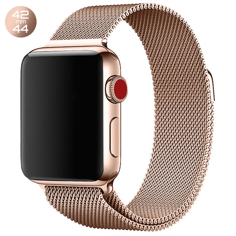 Rose Gold Milanese Stainless Steel Loop iWatch Band 42/44mm