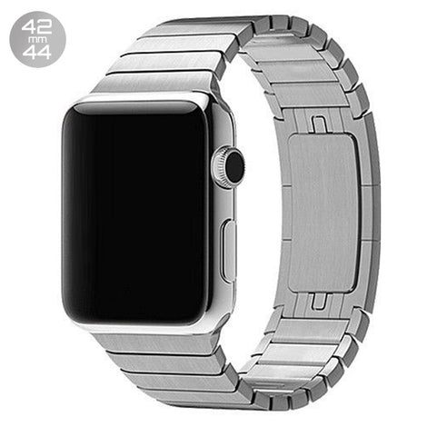 Silver iWatch 3D Stainless Steel Link Band 42/44mm