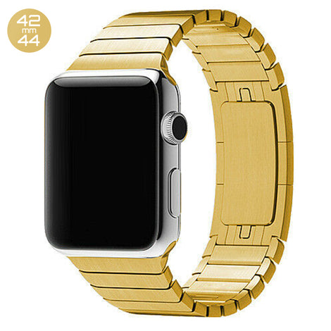 Gold iWatch 3D Stainless Steel Link Band 42/44mm
