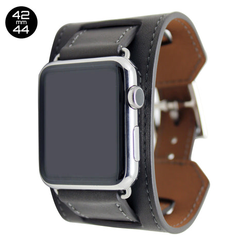 Dark Brown Cuff Leather iWatch Band 42/44mm