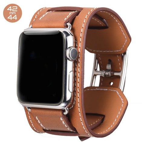 Brown Cuff Leather iWatch Band 42/44mm