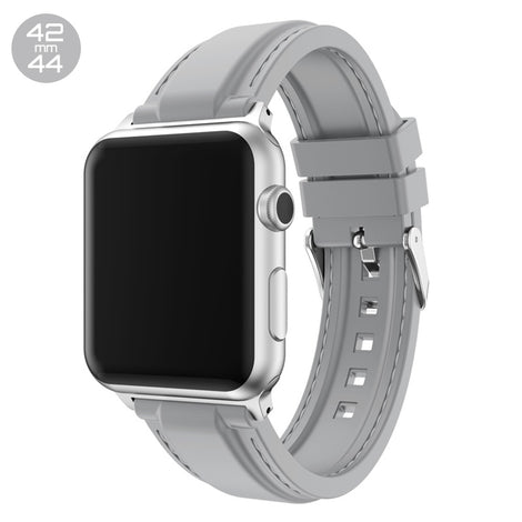 Grey Line Sewed Silicone iWatch Band 42/44mm