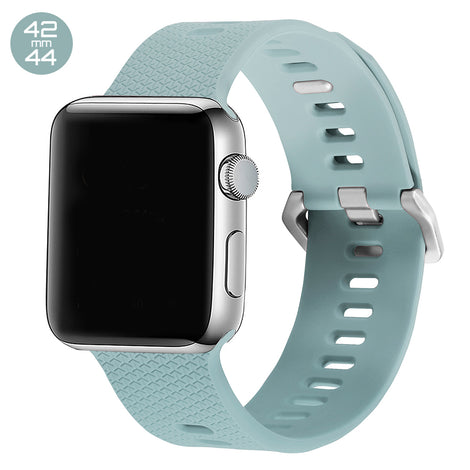 Turquoise Double Buckle Silicone iWatch Band 42/44mm