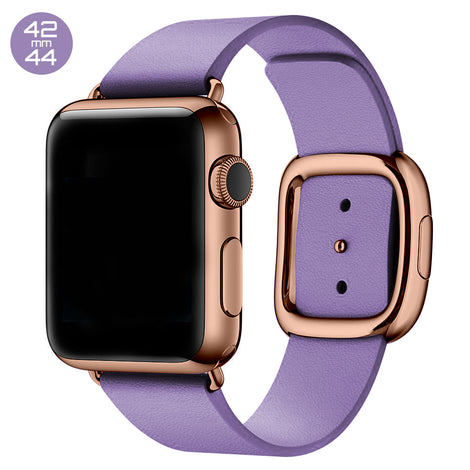 Lavender Modern Buckle Leather iWatch Band 42/44mm