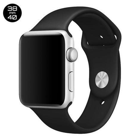Black iWatch Regular Silicone Band 38/40mm
