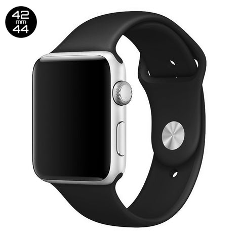 Black iWatch Regular Silicone Band 42/44mm