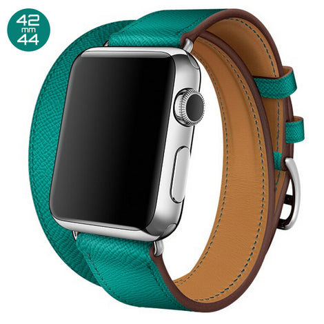 Mint Double Tour Leather iWatch Band 42/44mm