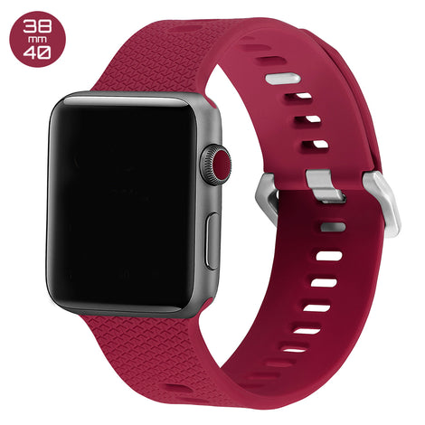 Red Rose Double Buckle Silicone iWatch Band 38/40mm
