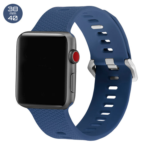 Midnight Blue Double Buckle Silicone iWatch Band 38/40mm