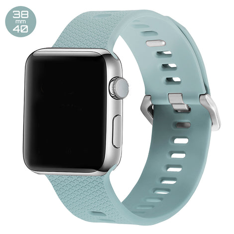 Turquoise Double Buckle Silicone iWatch Band 38/40mm