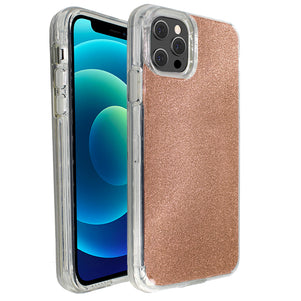 Rose Gold Sparkle Ibrido Case for iPhone 12 / 12 Pro