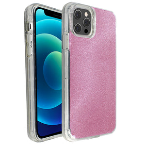 Rose Pink Sparkle Ibrido Case for iPhone 12 / 12 Pro