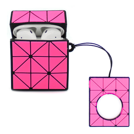 Pink Squares AirPod Case