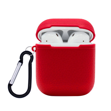 Red Grain Silicone AirPod Case