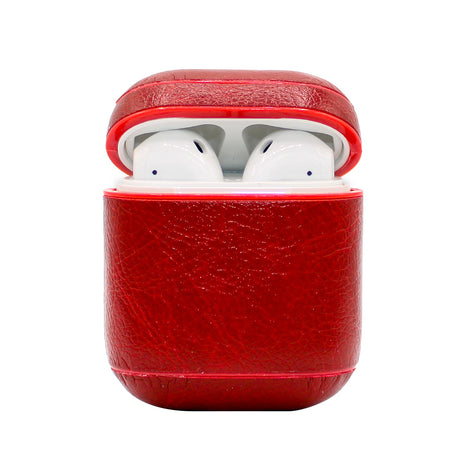 Red Leather AirPod Case