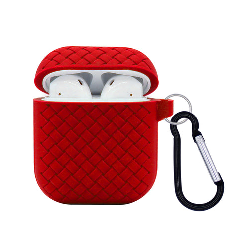 Red Mesh Silicone AirPod Case