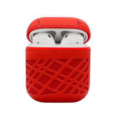 Red Weave AirPod Case