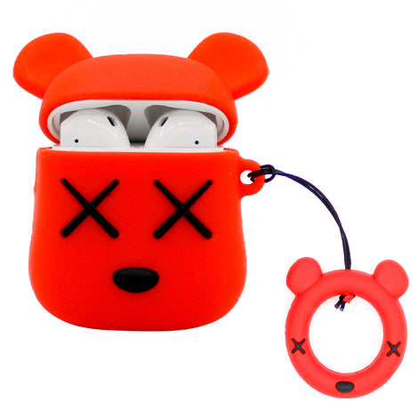 Red XX Teddy AirPod Case
