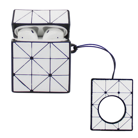 White Squares AirPod Case