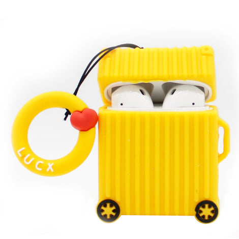 Yellow Luggage Case AirPod Case
