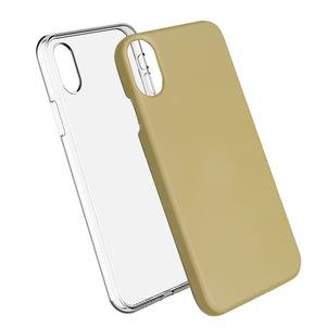 Gold Ibrido Case for iPhone X/XS