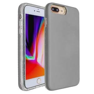 Silver Ibrido Case for iPhone 7/8 Plus