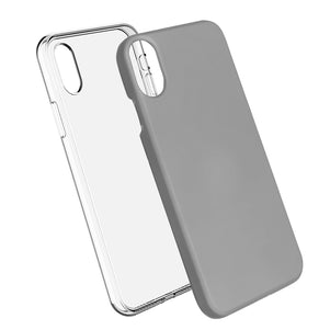 Silver Ibrido Case for iPhone X/XS