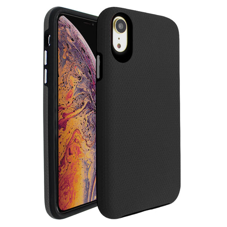 Black Ibrido Tri Case for iPhone XR