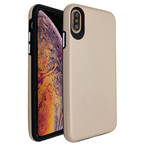 Gold Ibrido Tri Case for iPhone X/XS