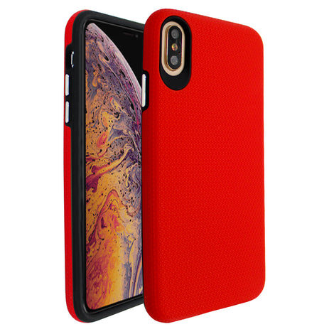 Red Ibrido Tri Case for iPhone XS Max