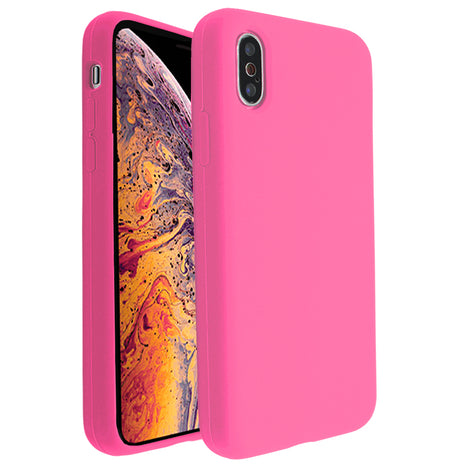 Hot Pink Silicona Case for iPhone XS Max
