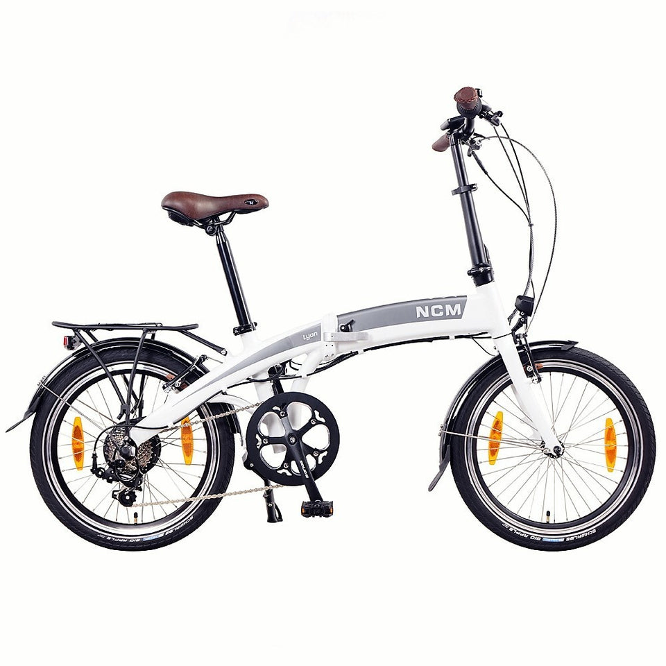 "NCM Lyon 20"" Folding E-Bike, 250W, 36V 8Ah Panasonic Battery [20""]"
