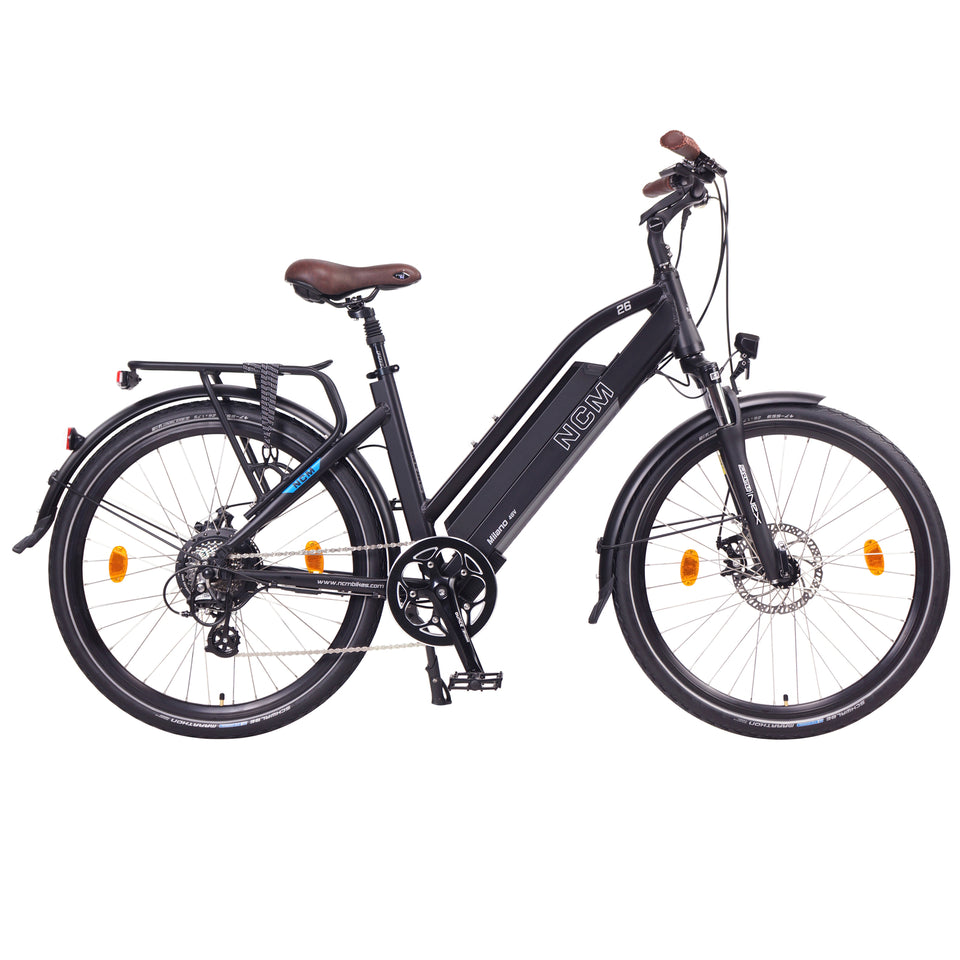 NCM Milano (Plus) [Black] Trekking E-Bike, City-Bike, 250W, 48V 16Ah 768Wh Battery