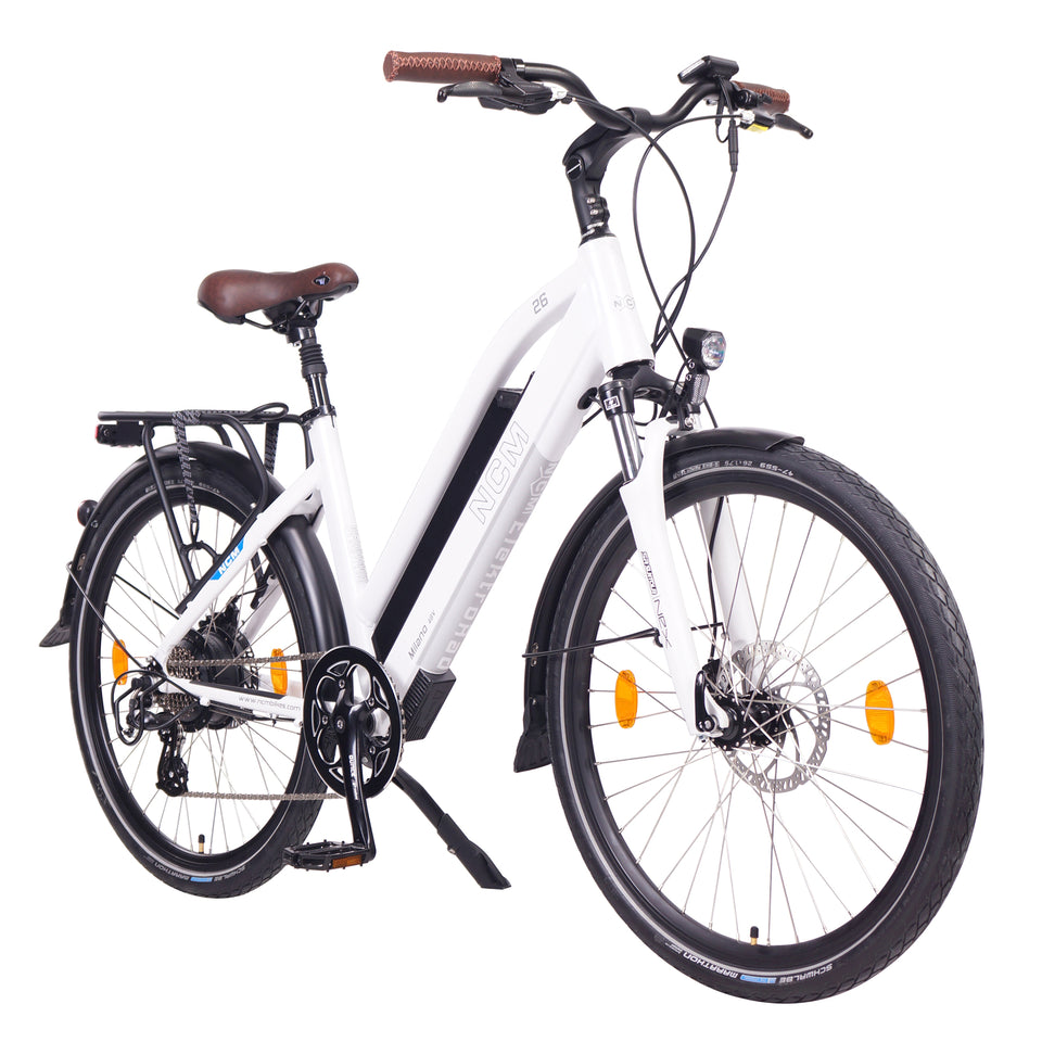 NCM Milano Plus Trekking E-Bike, City-Bike, 250W, 48V 16Ah 768Wh Battery [White]