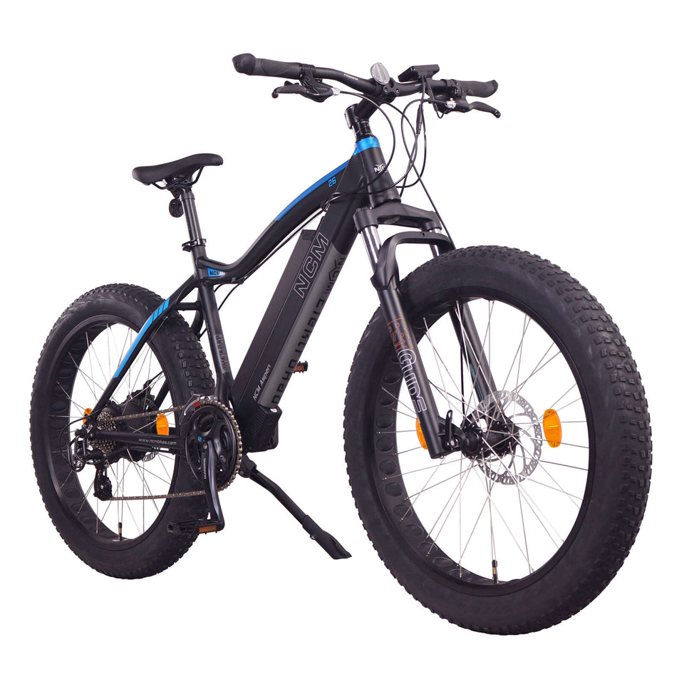 "NCM Aspen (Plus) Fat Electric Bike, E-Bike, 48V 16Ah 250W, E-MTB 768Wh Battery [Black 26""]"