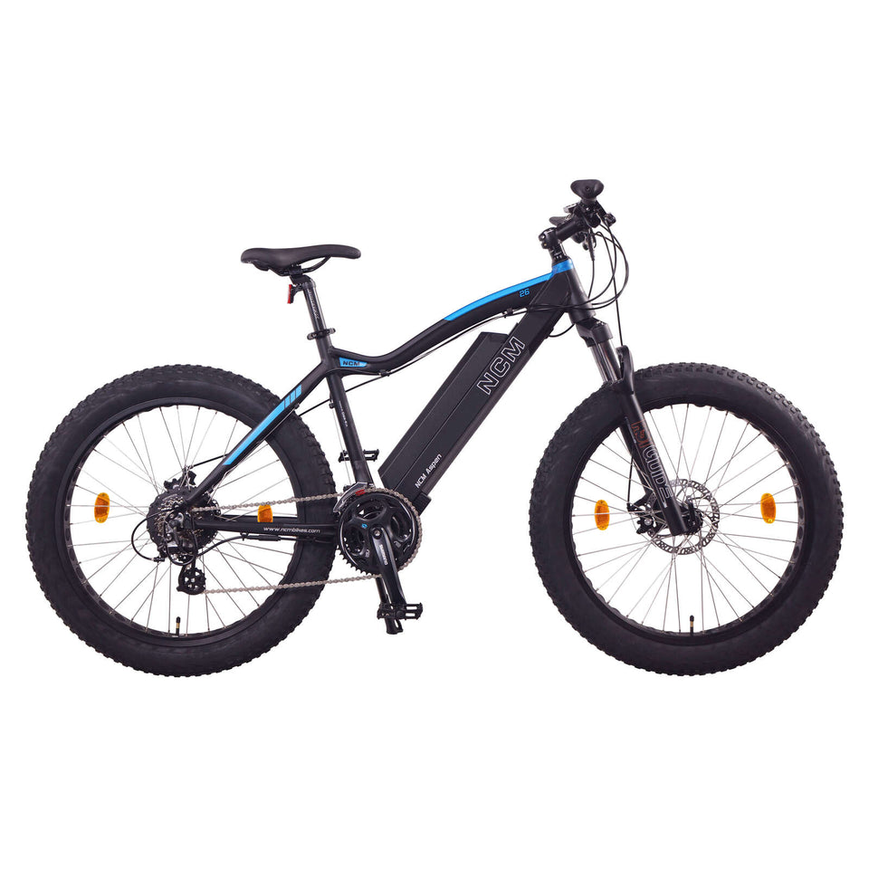 "NCM Aspen Fat Electric Bike,E-Bike ,48V 13Ah 250W, E-MTB 624Wh Battery [Black 26""]"